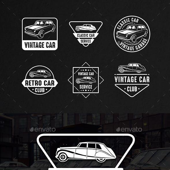Classic Car Vintage Logo & Badge
