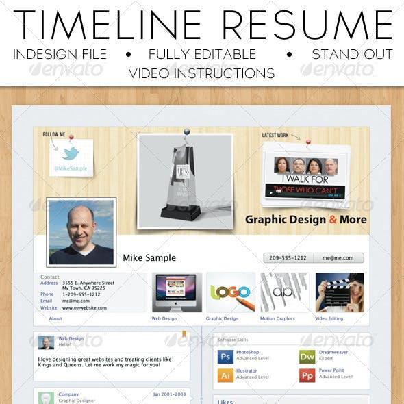 Facebook Timeline Resume