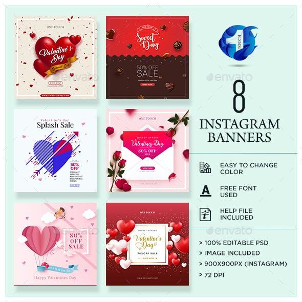 Valentine's Day Instagram Banners