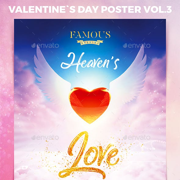 Valentine`s Day Party Poster Vol.3
