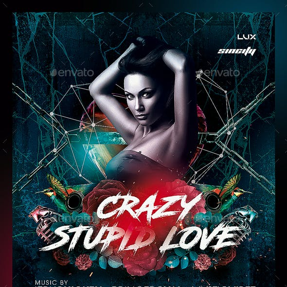 Crazy Love Flyer Template