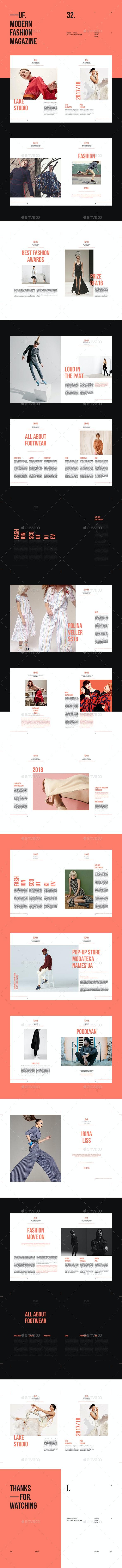 UF — Fashion Brochure Template - Brochures Print Templates