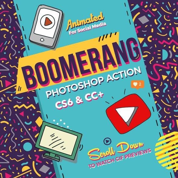 Boomerang Animated Photoshop Action