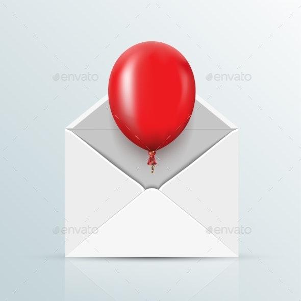 Vector Red Balloon Background - Miscellaneous Vectors