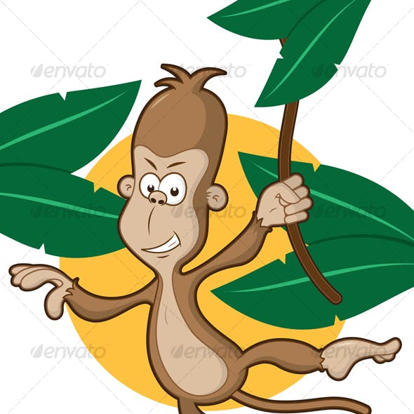 Monkey on a vine