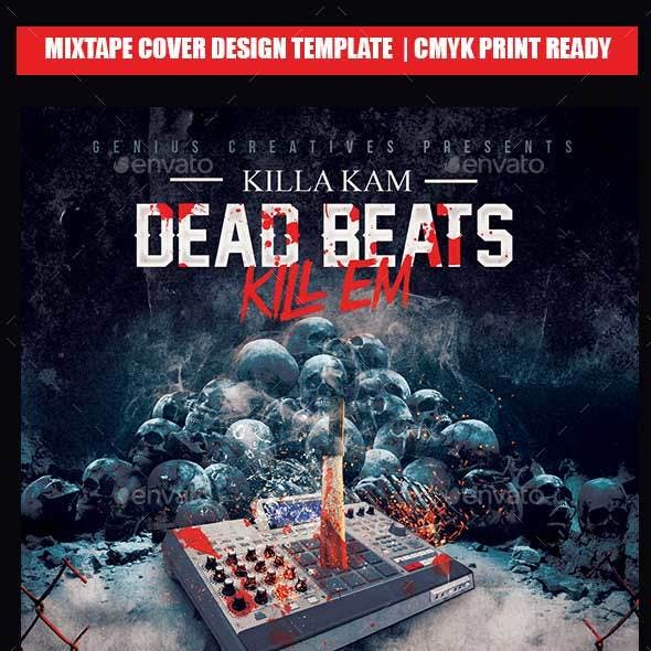 Dead Beat Mixtape Cover Template
