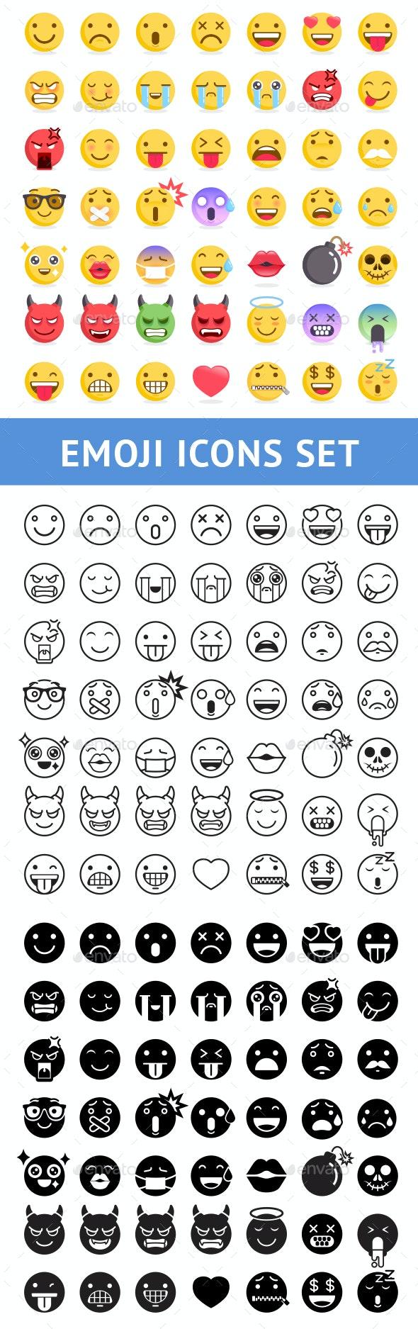 Emoji Symbols Icons Set - Icons