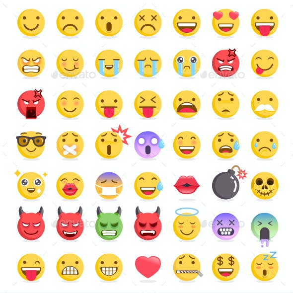 Emoji Symbols Icons Set