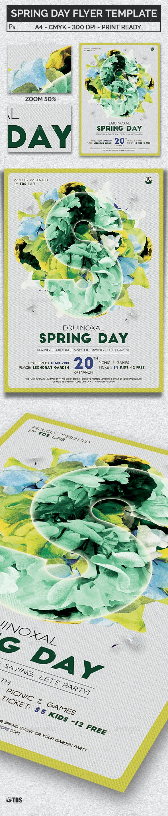 Spring Day Flyer Template - Clubs & Parties Events