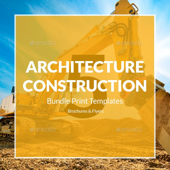 Architecture and Construction – Bundle Print Templates 5 in 1