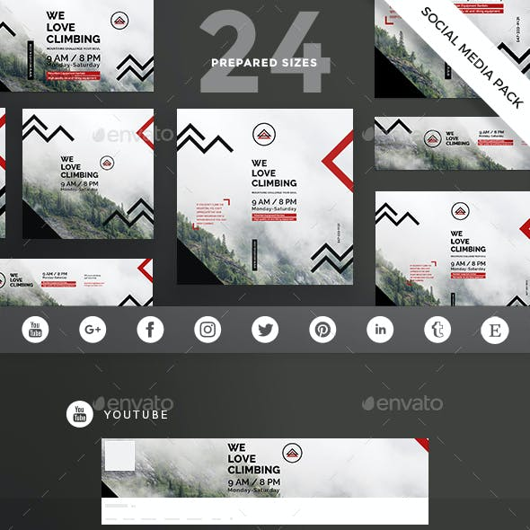 Climbing Social Media Pack