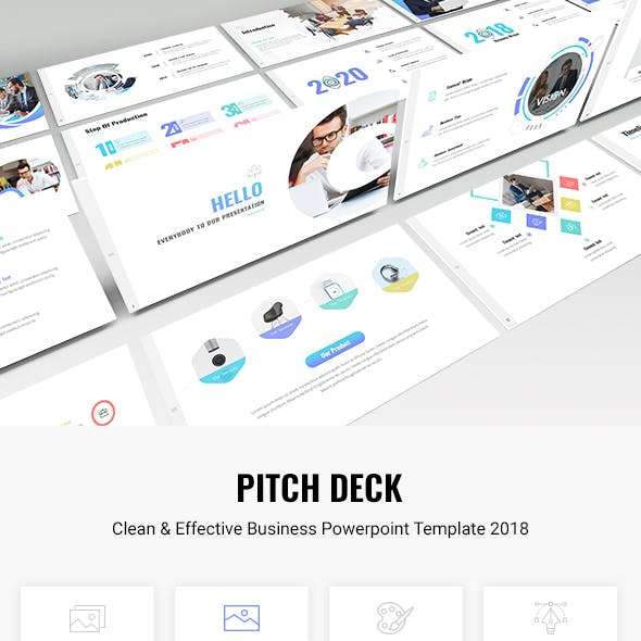 Pitch Deck - Clean & Effective Business Powerpoint Template