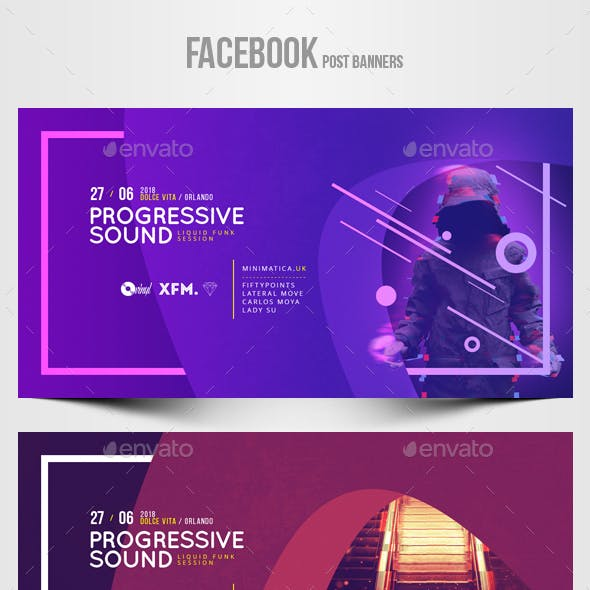 Electronic Music Party vol.37 - Facebook Post Banner Templates