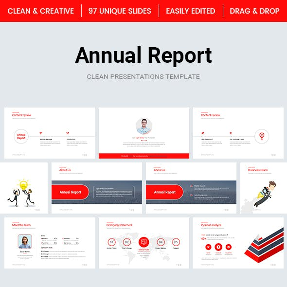 Annual Report PowerPoint Template 2018