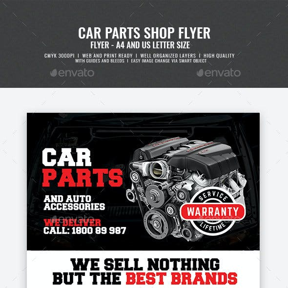 Car Parts and Auto Supply Center Flyer