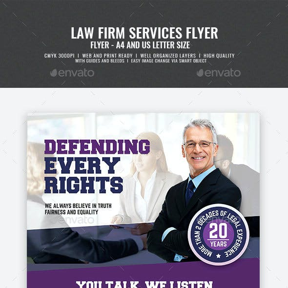 Legal and Law Firm Flyer