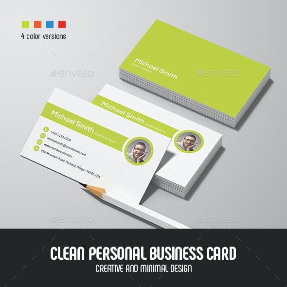 Clean Personal Business Card