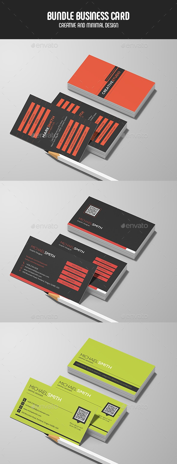 Business Cards - Bundle - Creative Business Cards
