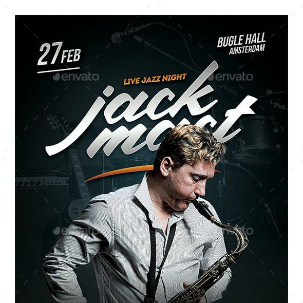 Jazz Musician Flyer