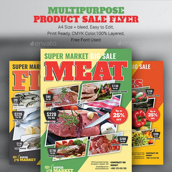 Multipurpose Product Sale Flyer