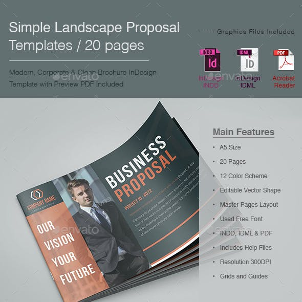 Simple Landscape Proposal Templates