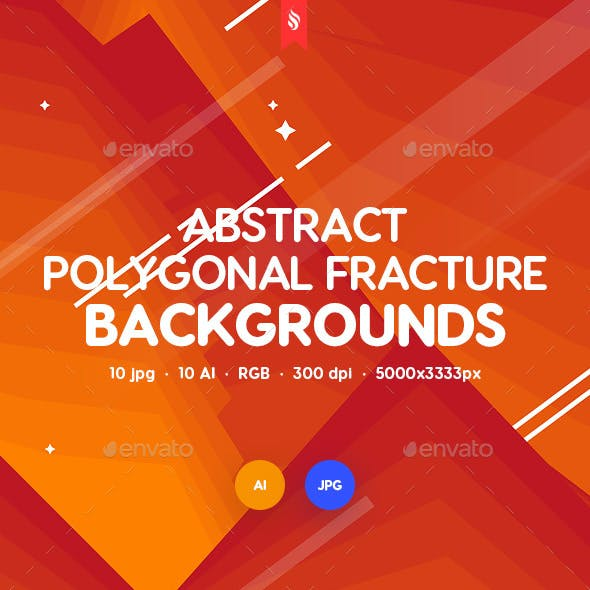 Abstract Polygonal Fracture Backgrounds
