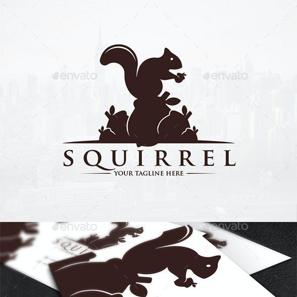 Squirrel Food Logo Template