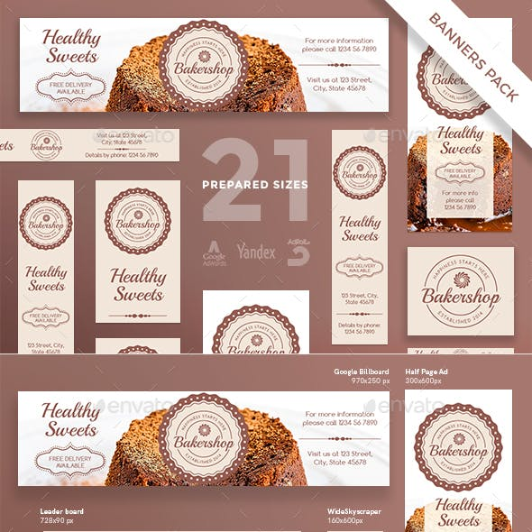Baker Shop Banner Pack