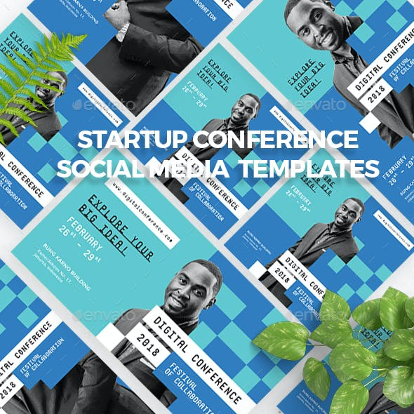 Startup Conference Social Media Templates