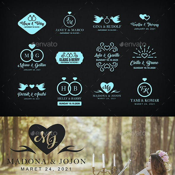12 Wedding Badge & Logo