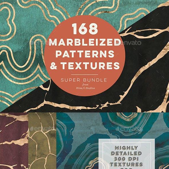 168 Marbleized Gold Patterns & Textures