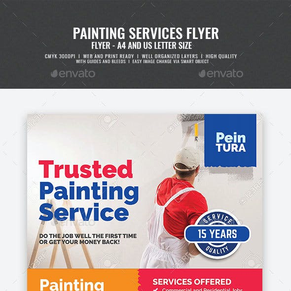 Commercial Painting Promotional Flyer