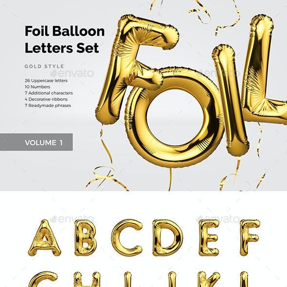 Foil Balloon Letters Set