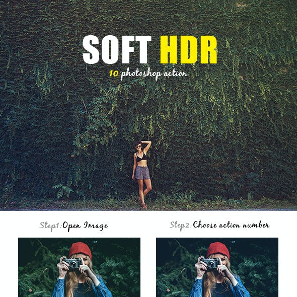 10 Soft HDR Photoshop Action