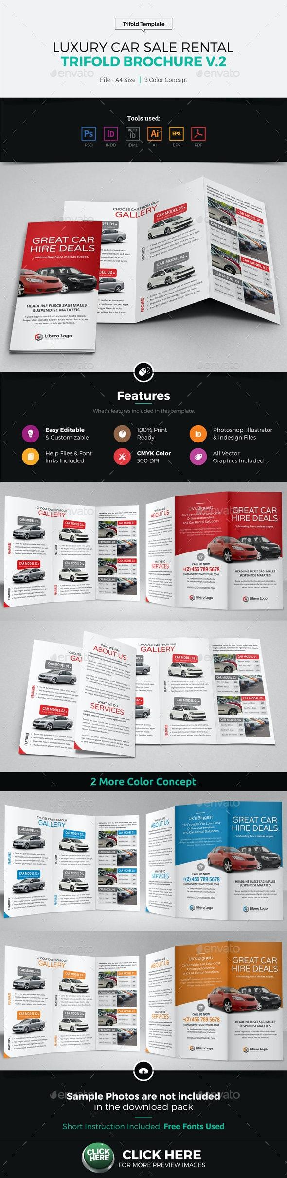 Luxury Car Sale Rental Trifold Brochure v2 - Corporate Brochures