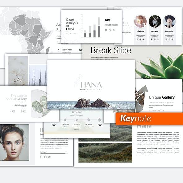 Hana Minimal Keynote Template