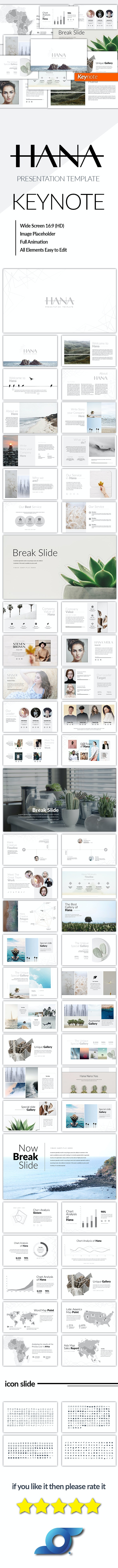Hana Minimal Keynote Template - Business Keynote Templates