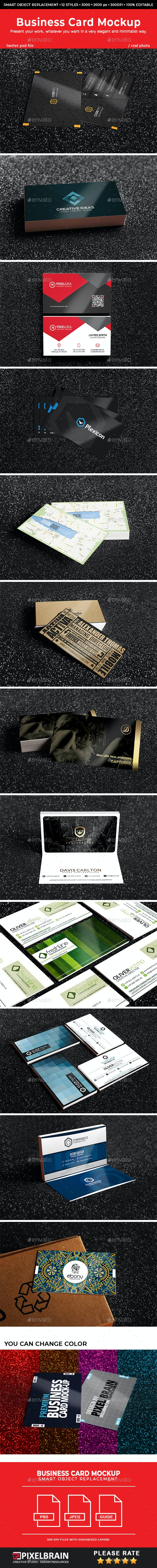 Realistic Business Card Mockups Vol. 4 - Business Cards Print