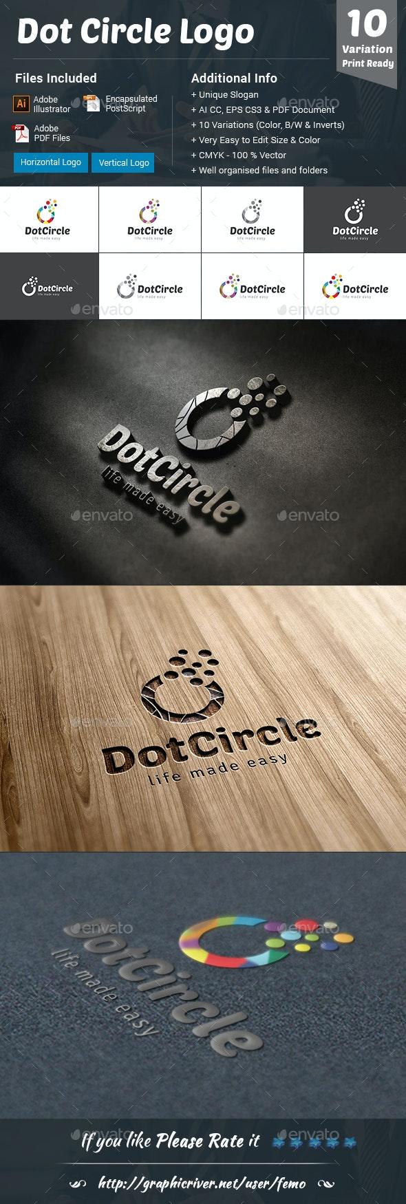 Dot Circle Logo - Vector Abstract