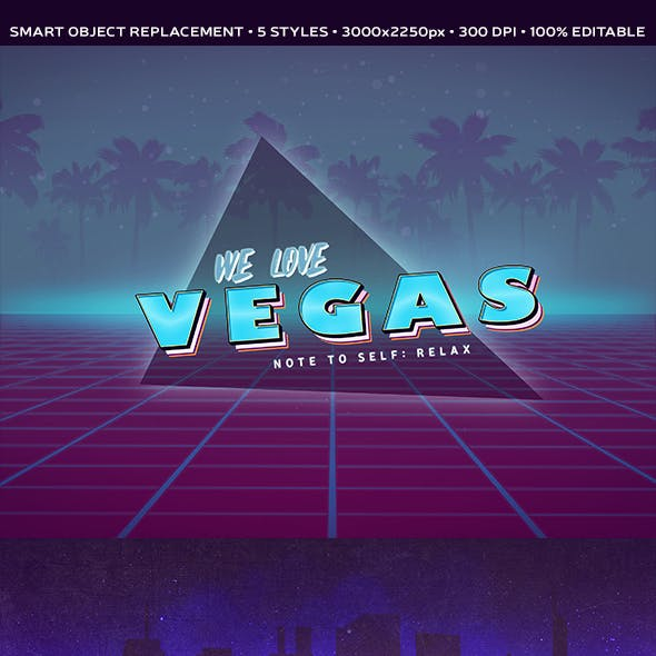 5 Styles 80's Retro Photoshop Text Effects