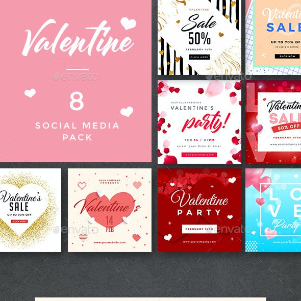 Valentines Day Banners
