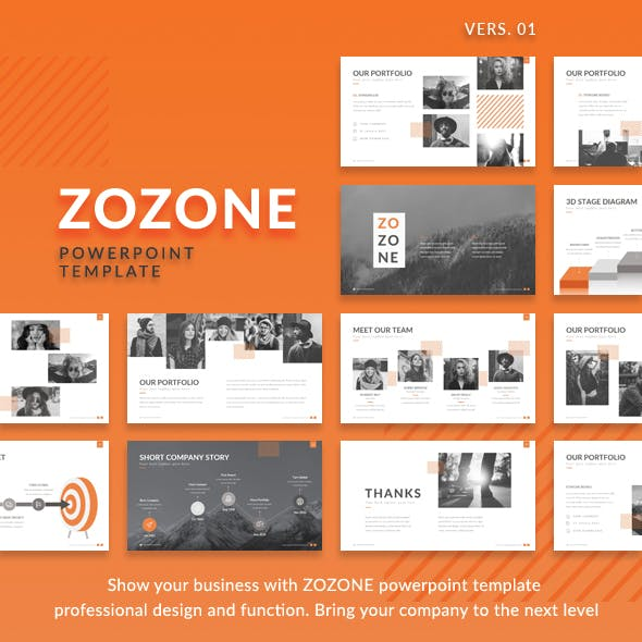 ZOZONE - Simple Modern Powerpoint Presentation Template
