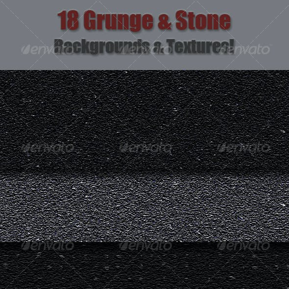 18 Grunge & Stone Textures & Backgrounds