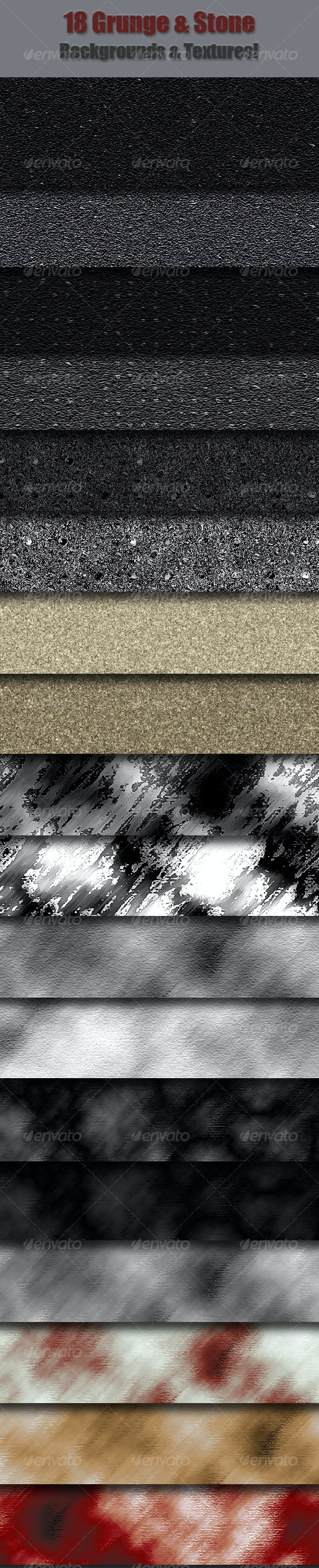 18 Grunge & Stone Textures & Backgrounds - Backgrounds Graphics