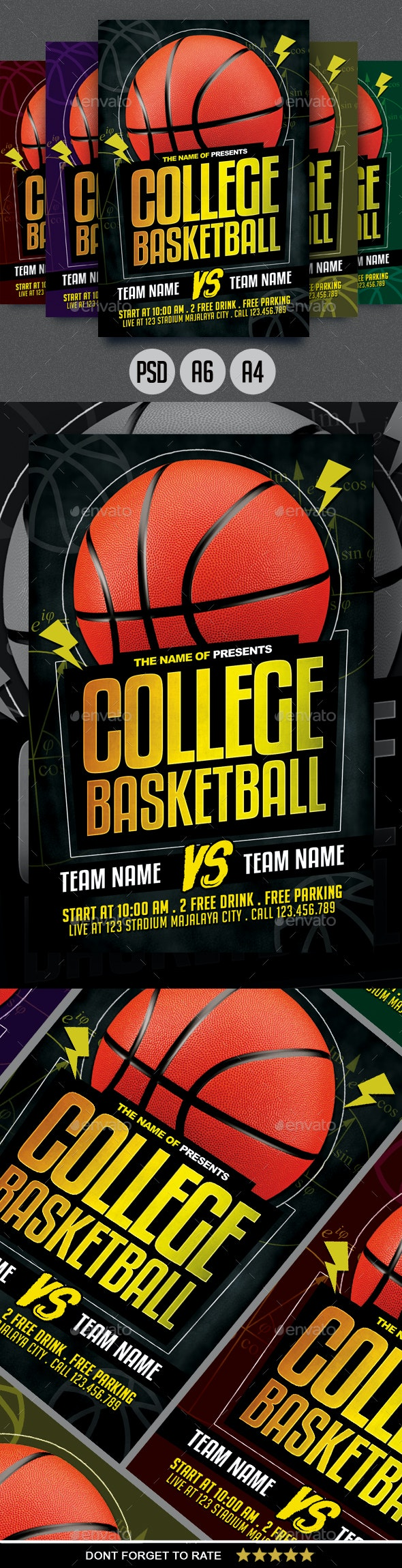 College Basketball Flyer - Sports Events