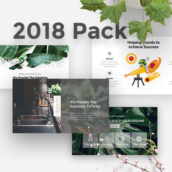 2018 Pack - 3 in 1 Creative Keynote Template