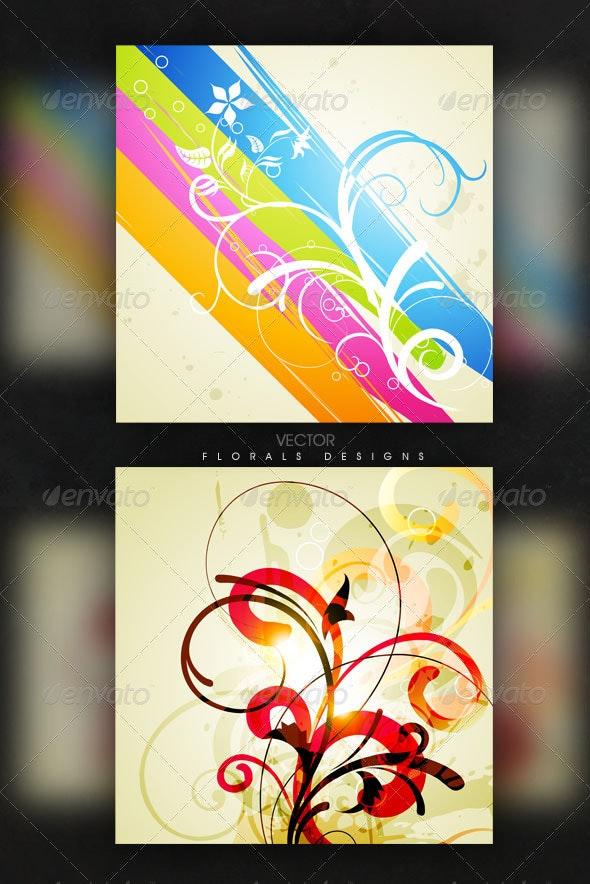 Vector Floral Design Illustration  - Backgrounds Decorative