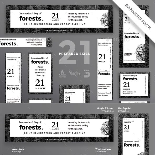 Forests Day Banner Pack