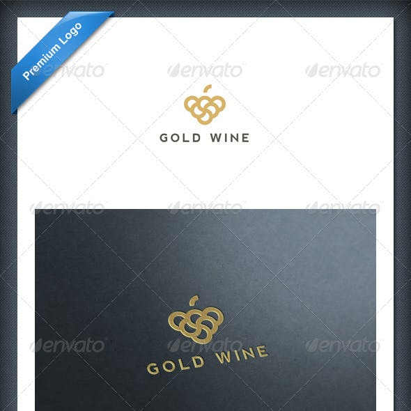 Gold Wine Logo Template