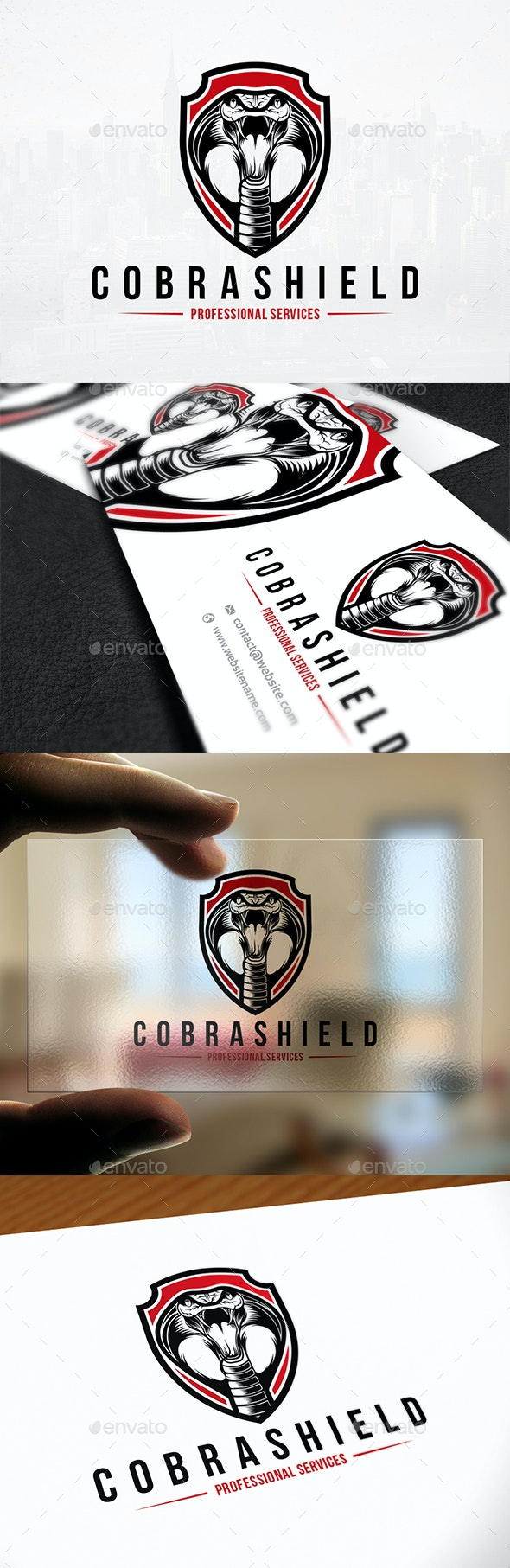 Cobra Shield Logo Template - Animals Logo Templates